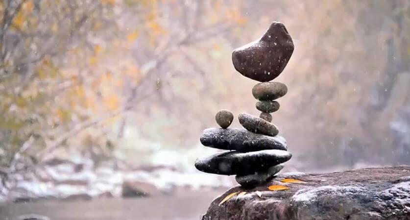 steen voor steen berg verplaatsen