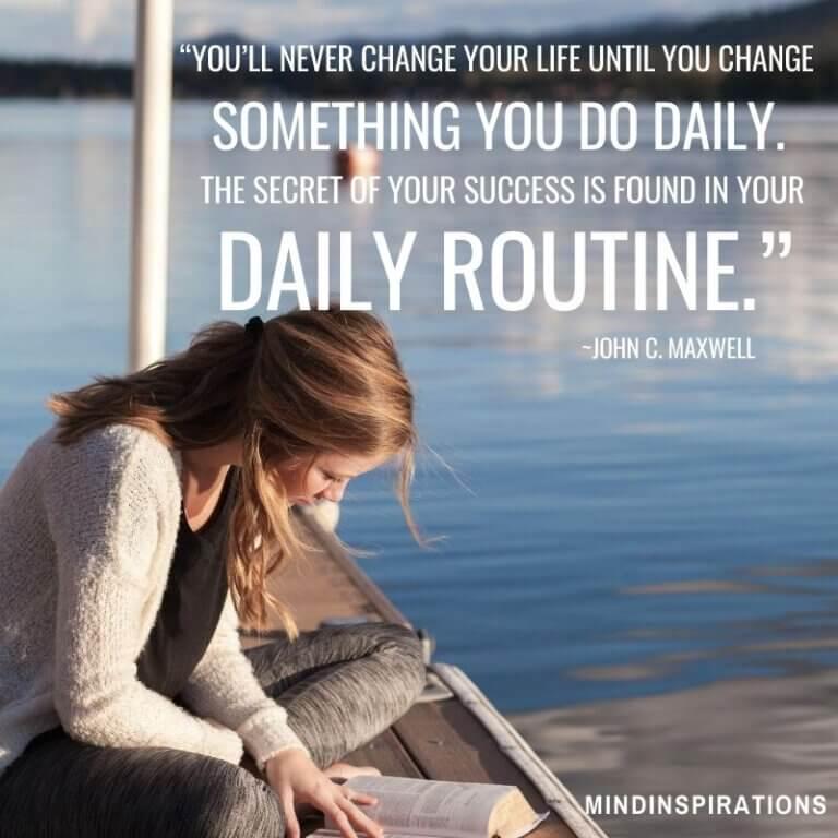dagelijkse routine