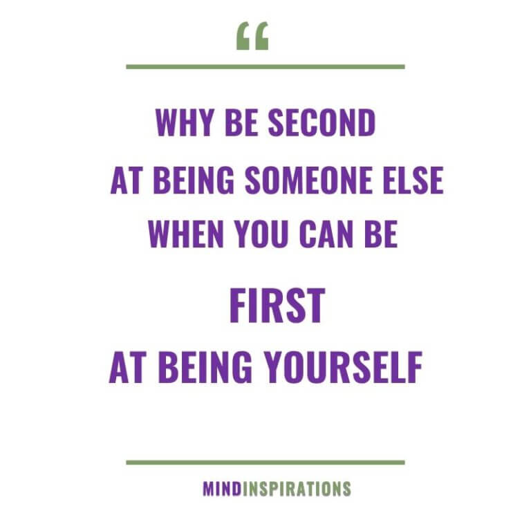 first being yourself